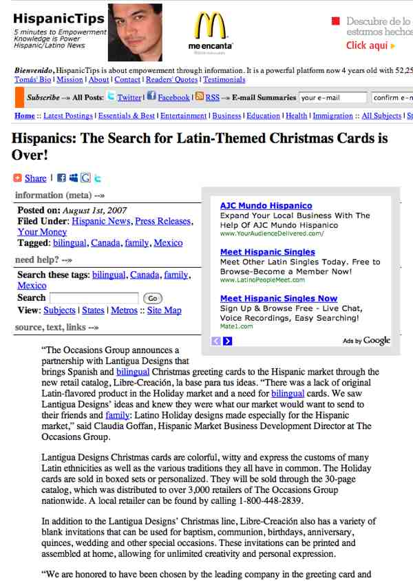 Hispanic Tips The Search for Original Hispanic Christmas Cards is Over