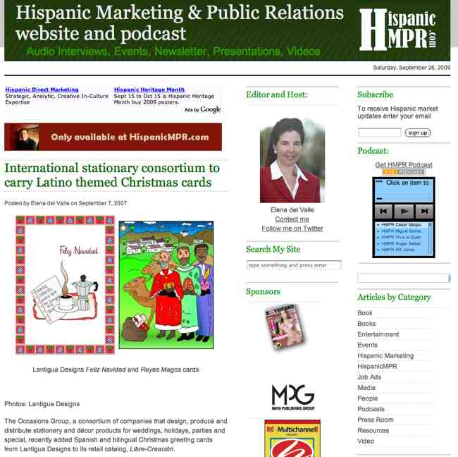 Hispanic MPR The Search for Original Hispanic Christmas Cards is Over