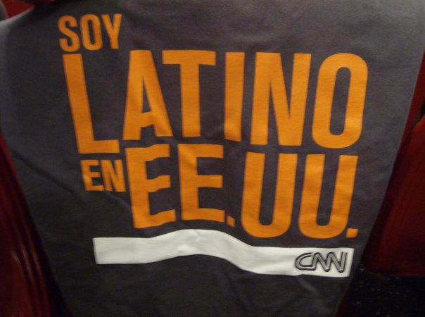 Soy Latino en E.E.U.U. T-Shirts handed out at the VIP presentation of CNN Latino in America