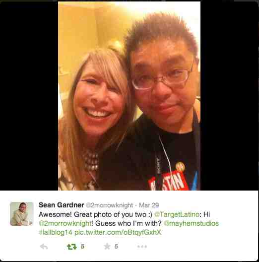 Sean Gardner, a dear SMM friend of Havi's, replies to Havi Goffan and Calvin Lee's tweet