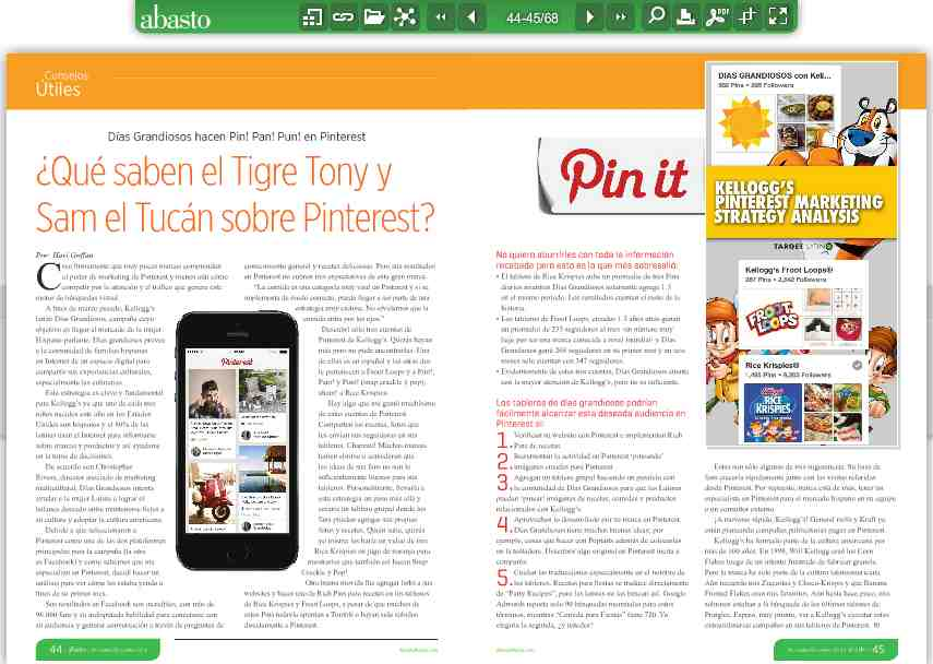 What do Tony the Tiger and Toucan Sam know about Pinterest?