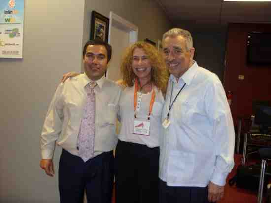 From left to right: Hugo Hernandez, Havi Goffan & Daniel Vargas. Hispanic Grassroots Marketing by Claudia Goffan - Target Latino