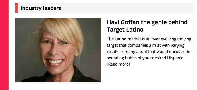 Latinas in Business on Havi Goffan the genie behind Target Latino